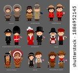 people in national dress.... | Shutterstock .eps vector #1886952145