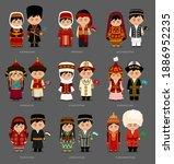 people in national dress.... | Shutterstock .eps vector #1886952235