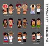 people in national dress.... | Shutterstock .eps vector #1886952238