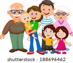 happy cartoon family  | Shutterstock .eps vector #188696462