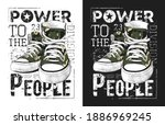 sneakers illustration for a t... | Shutterstock .eps vector #1886969245