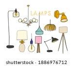 vector lighting lamp...   Shutterstock .eps vector #1886976712
