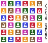 people icons. white flat... | Shutterstock .eps vector #1886996692