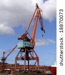 large industrial shipping crane ... | Shutterstock . vector #18870073