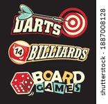 social leisure games logos and... | Shutterstock .eps vector #1887008128