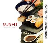 Sushi Rolls With Sushi...