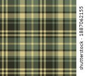 plaid pattern in olive green...   Shutterstock .eps vector #1887062155