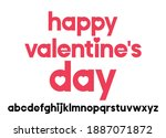 vector geometric alphabet with... | Shutterstock .eps vector #1887071872