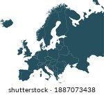 vector illustration of europe... | Shutterstock .eps vector #1887073438