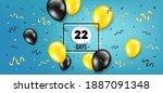 twenty two days left icon....   Shutterstock .eps vector #1887091348