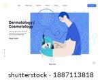 dermatology  cosmetology ... | Shutterstock .eps vector #1887113818