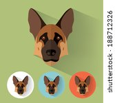 animal portrait with flat... | Shutterstock .eps vector #188712326