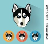 animal portrait with flat... | Shutterstock .eps vector #188712335