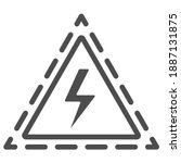 triangle with lightning line...   Shutterstock .eps vector #1887131875