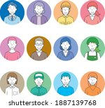 illustrations of faces of...   Shutterstock .eps vector #1887139768