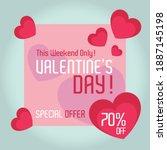 valentine's day sale banner... | Shutterstock .eps vector #1887145198