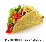 Mexican Food Taco Isolated On ...