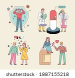 health supplements and people... | Shutterstock .eps vector #1887155218