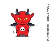 cute mascot of devil  demon... | Shutterstock .eps vector #1887179032