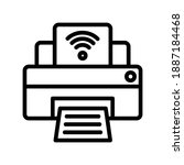 printer icon in line style...