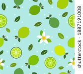 Green Lemon Flat Vector...
