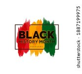 black history month african...   Shutterstock .eps vector #1887199975