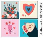 Set Of Cards Happy Valentine's...
