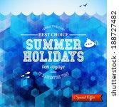 summer design. poster for...   Shutterstock .eps vector #188727482