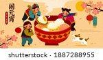 cute asian children enjoying a... | Shutterstock .eps vector #1887288955