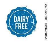 dairy free approval seal print... | Shutterstock .eps vector #1887290755