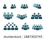 workgroup with leader sign set  ...   Shutterstock .eps vector #1887303745