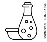 face oil potion icon. outline... | Shutterstock .eps vector #1887315658