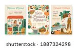 collection of local products... | Shutterstock .eps vector #1887324298