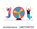 wheel of fortune and winners... | Shutterstock .eps vector #1887358702