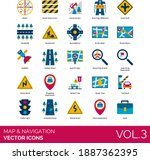 maps and navigation icons... | Shutterstock .eps vector #1887362395