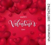 happy valentine's day hand... | Shutterstock .eps vector #1887362962
