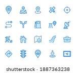 location line icon set. gps ...