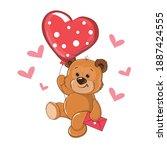 The Teddy Bear Is Flying In A...
