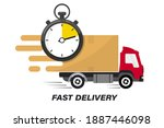 shipping fast delivery truck... | Shutterstock .eps vector #1887446098