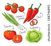 vegetarian vegetables collection | Shutterstock . vector #188746892