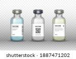 set of medical vaccine bottles... | Shutterstock .eps vector #1887471202