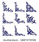 kazakh ornaments  9 corners ... | Shutterstock .eps vector #1887473938