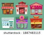 collection of buildings...   Shutterstock .eps vector #1887483115