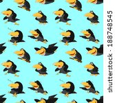 texture of cute cartoon ravens | Shutterstock .eps vector #188748545