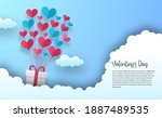 valentine's day greeting card... | Shutterstock .eps vector #1887489535