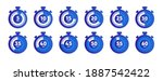 digital timer set vector icon....   Shutterstock .eps vector #1887542422