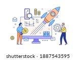 concept of business release ... | Shutterstock .eps vector #1887543595
