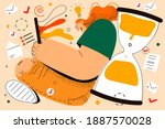task completion  successful... | Shutterstock .eps vector #1887570028
