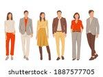 set of young men and women ... | Shutterstock .eps vector #1887577705