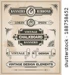 vintage retro hand drawn banner ... | Shutterstock .eps vector #188758652